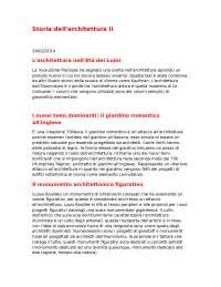 RIASSUNTI STORIA DELL'ARCHITETTURA II