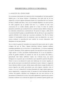 Prehistoria Universal Antigua