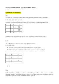 Statistica esercizi