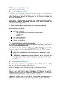 Tema 1, 2, 3, 4. Fonaments del Màrqueting (Prof. Jaime Gil)