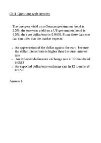 Exercise International Finance