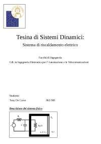Tesina Completa di Sistemi Dinamici 18/19 - Sistema di Riscaldamento Elettrico