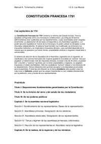 constitucion francesa de 1791