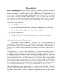 Pharmacokinetics Introduction
