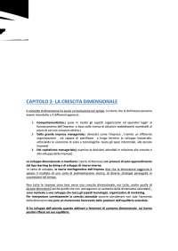 Capitolo 2 e 3 - Lo sviluppo e la dimensione dell'impresa