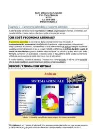 Appunti schematici di Economia Aziendale - 1° anno RPCI IULM - Primo Parziale