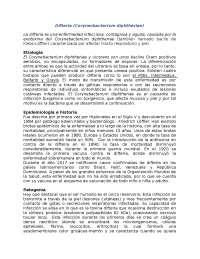 Difteria: resumen practico