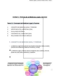 Temas 1.1 y 1 .2 de Medicina legal