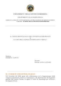 appunti codice deontologico e caso kroll