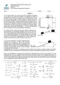 Prova 1 de Física UFRGS, Provas de Cinemática