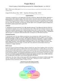 Project Work  logica della comunicazione