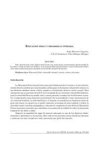 Desarrollo Integral de la Educacion Fisica
