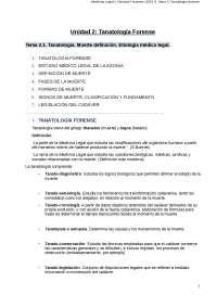 Unidad didáctica 2 - Medicina legal (Criminología)