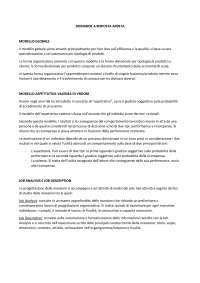 Organizzazione aziendale, Esercizi di Organizzazione Aziendale