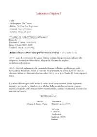 Letteratura Inglese I pt.1