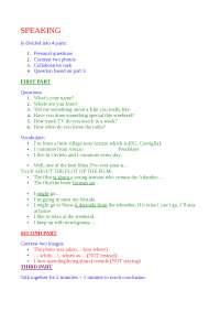 Speaking test tips B2