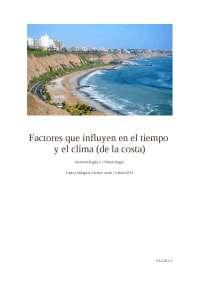 Clima y tiempo en las costas peruanas
