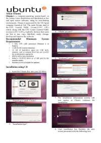 Ubuntu Introduction