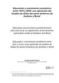 Educación y crecimiento económico entre 1975 a 2005.
