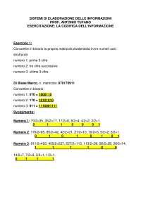 Elaborato 1 codifica Sistemi di elaborazione delle informazioni Unipegaso