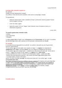 Appunti di sociologia della criminalità organizzata