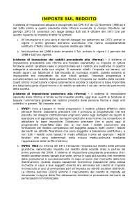 CAPITOLO 1 - IMPOSTA SUL REDDITO DELLE PERSONE FISICHE (IRPEF) - TESAURO  PARTE SPECIALE (undicesime edizione aggiornata).