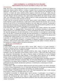 Il sistema politico italiano riassunto