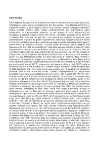 Vita e opere di Carlo Scarpa