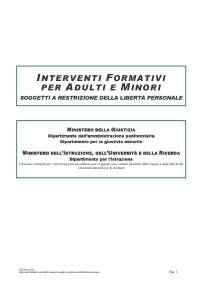 Interventi formativi per adulti e minori