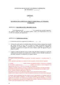 estatutos de viviendas