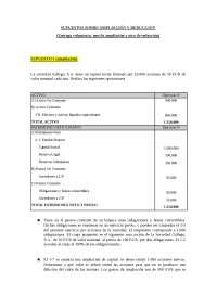 Supuestos ampliación capital