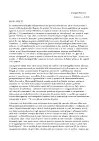 RIFLESSIONI LABORATORIO CONFLITTO E MEDIAZIONE
