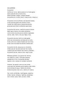 Vicente Aleixandre- Se querían