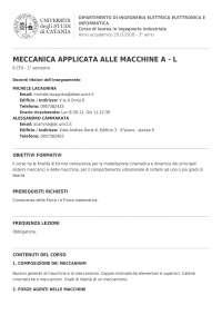 syllabus meccanica e macchine