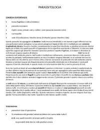 Appunti parziali Parassitologia
