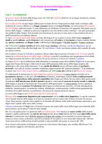 'Prima lezione di storia della lingua italiana' di  Luca Serianni - Riassunto