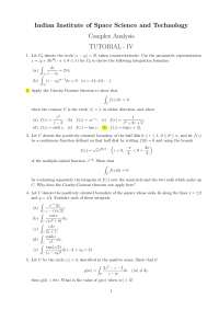 Tutorial on Complex Analysis for an undergraduate course