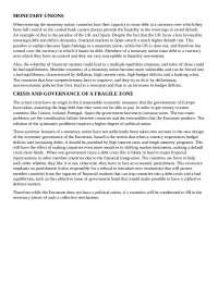 Apuntes macro monetary unions