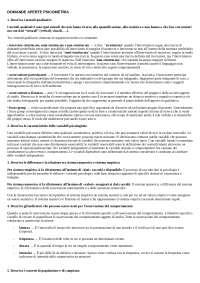DOMANDE PSICOMETRIA