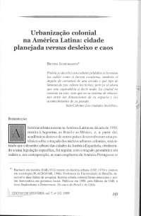 Urbanização colonial na America Latina