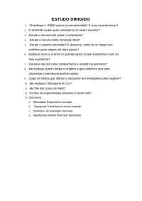 Estudo dirigido neonatologia - Fisioterapia