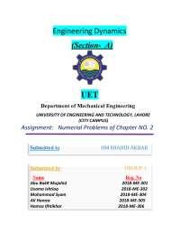 Engineering Dynamics J.L. Meriam 7th Edition Solution