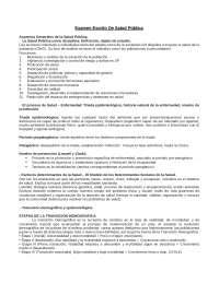 Resumen Salud publica
