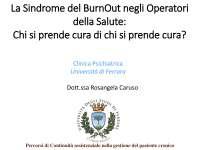 Burnout descrizione