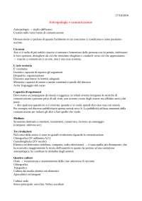 Appunti Antropologia e Comunicazione
