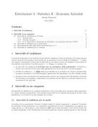 Esercitazione Statistica parte III