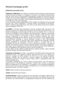 Dizionario di pedagogia speciale - Luigi d'Alonzo. Sezione (A-D)
