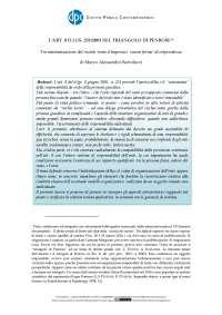 Appunti rischio d impresa d lgs 231/2001