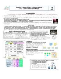 Coloides y Suspensiones, Osmosis y Diálisis