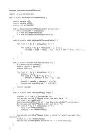 Newton divided difference in java